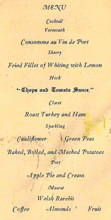 Pickwick club menu, Adelaide, 1934